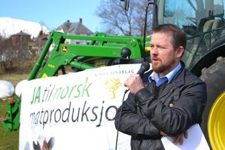 Fylkesleder i M&R Bondelag, Oddvar Mikkelsen.