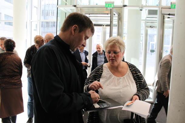 Bondelagsleder Lars Petter Bartnes og 2.nestleder Brita Skallerud