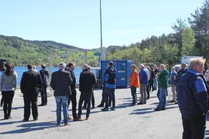Synfaring på Eikefjord tømmerkai.