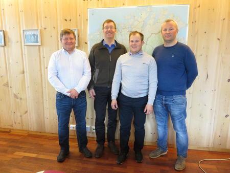 Fra venste: Jan Olli, Sverre Pavel, Markus Heiberg og Terje Balandin