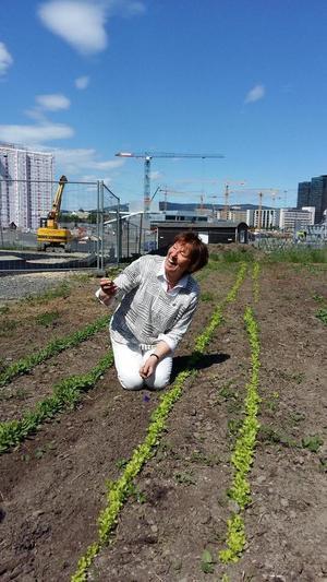 Marianne Borgen på besøk på Losæter