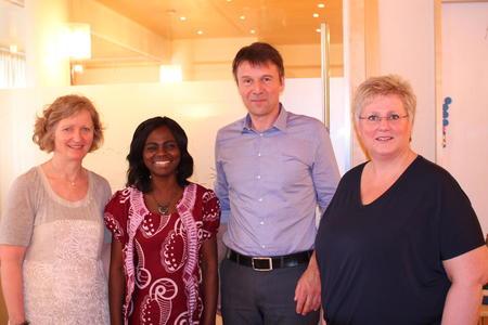 Kristin Ianssen, Evelyn Ngulka, Lars Petter Bartnes og Brita Skallerud.