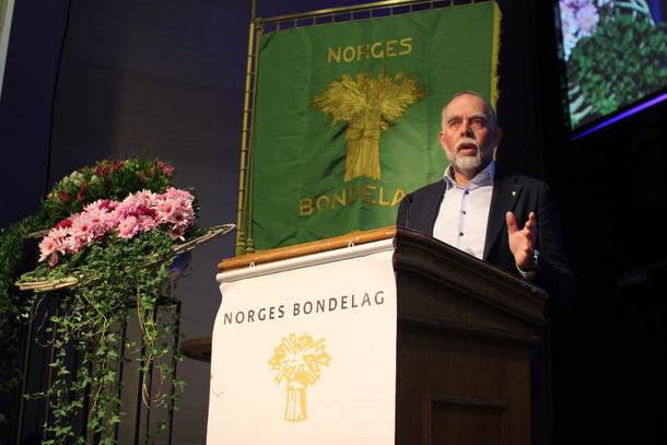 Leder i Sør-Trøndelag Bondelag, Lars Morten Rosmo.