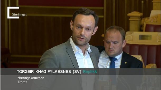 Torgeir Knag Fylkesnes (SV) foreslo å sende oppgjeret i sin heilskap tilbake til regjeringa. Han fekk støtte frå eit mindretal beståande av eige parti, MDG og delar av Senterpartiet.