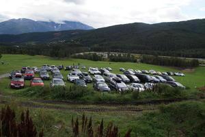 Fleire hundre tok turen på Open Gard på Kaupanger.