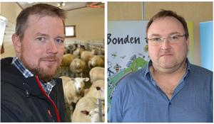 Fylkesleiar Oddvar Mikkelsen og rovdyransvarleg Odd Bjarne Bjørdal