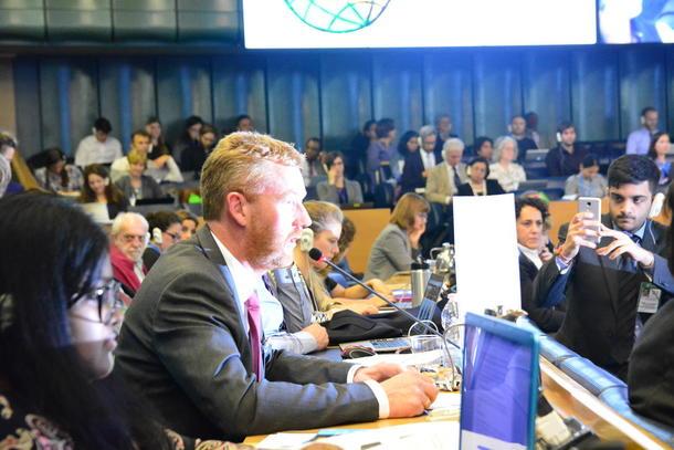 Bjørn Gimming la vekt på behovet for å involvere bøndene for å nå tusenårsmåla då han heldt innlegg for WFO i FNs matsikkerheitskomite denne veka.