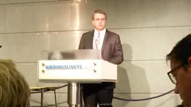 WTOs generaldirektør Roberto Azevedo på NHOs handelskonferanse fredag føremiddag. Foto: Hildegunn Gjengedal