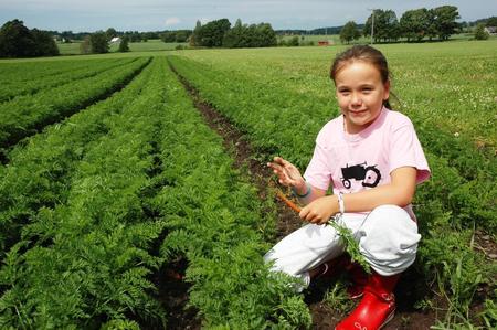 Landskapsbilde med ung jente
