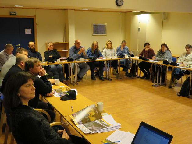 En del av møtedeltagerne