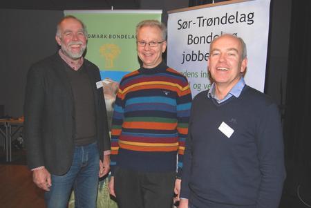 God diskusjon om jordvern og jordflytting, fra venstre: Lars Morten Rosmo, Trond Knapp Haraldsen og Lars Opsal jr
