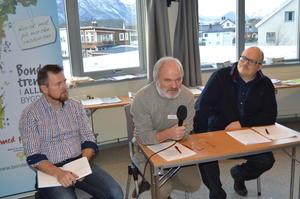 Fra debatten om hvordan vinner landbruket stortingsvalget. Fra venstre Oddvar Mikkelsen, Einar Frogner og Per Vidar Kjølmoen.