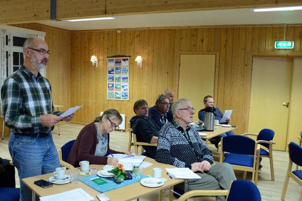 VALG: Otto Ekker presenterte valgkomiteens forslag.