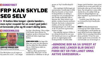 Faksimile fra Dagbladet 24. november 2016