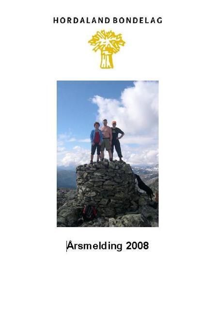 Årsmelding Hordaland Bondelag 2008