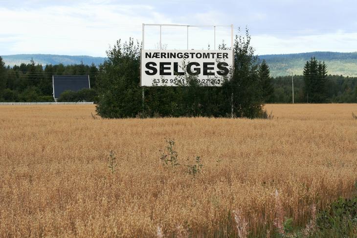 Jordvern næringstomter selges