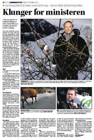 Sunnmørsposten 20. desember 2016 - klikk på biletet for å lese intervjuet med Jon Georg Dale (i PDF)