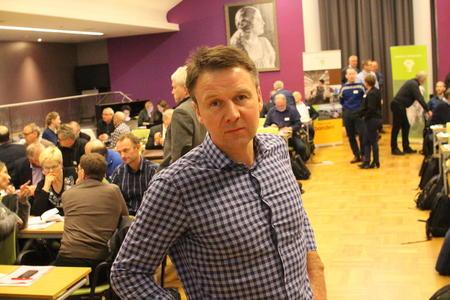 Lars Petter Bartnes på representantskapsmøte