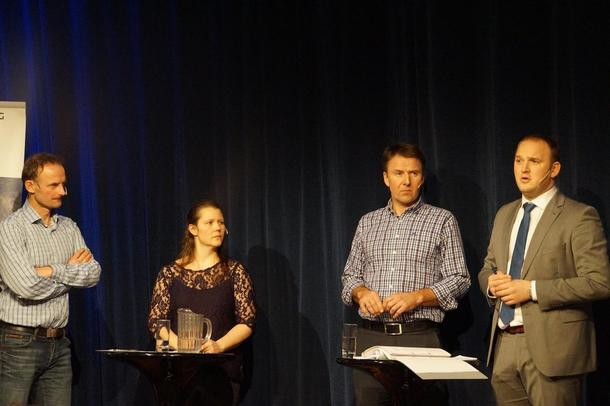 Anders Felde, Frøydis Haugen, Lars Petter Bartnes og Jon Georg Dale