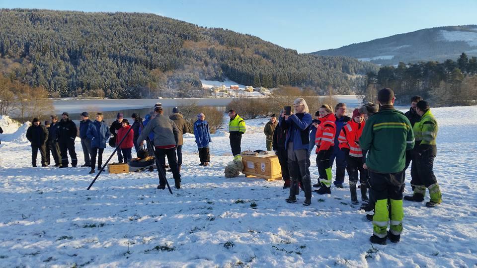 Bondelaga på Voss har brent bål for norsk landbruk og mot regjeringa si jordbruksmelding.