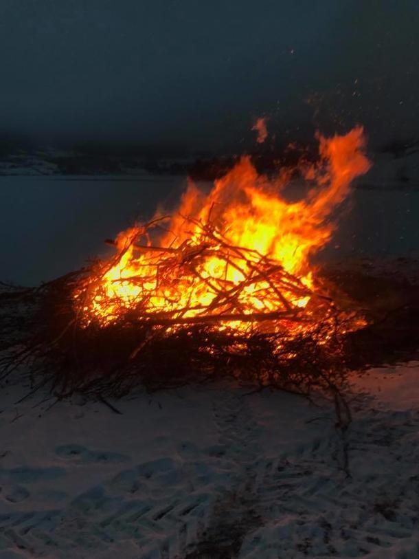 Faresignal i Vestre Slidre. Foto: Solveig Kvale Bakke