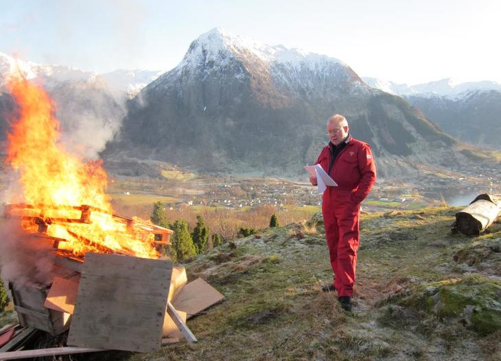 Bjarte Naterstad, leiar i Omvikdalen Bondelag i Hordaland.