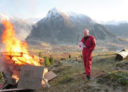 Bjarte Naterstad, leiar i Omvikdalen Bondelag, med appell