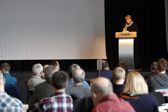Det var en lydhør forsamling som lyttet til Venstre-leder Trine Skei Grande, som sitter med nøkkelen i mange av spørsmålene som er viktige når landbruksmeldinga skal behandles.