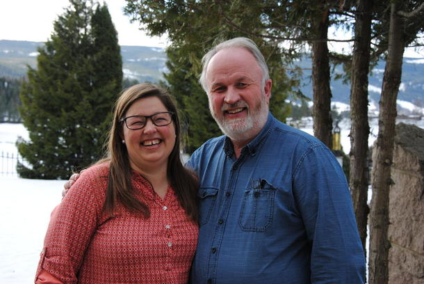 Ny lederduo i Oppland Bondelag: nestleder Kristina Hegge og leder Trond Ellingsbø.