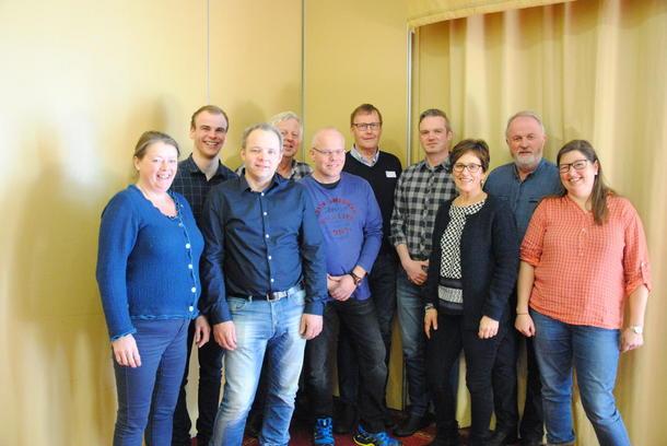 F.v. Bjørnhild Kihle, Håvard Lindgaard, Anders Hole Fyksen, Lars Egil Blekkerud, Ole Kristian Oldre, Jon Lerhol, Kristian Bleken, Magnhild Grimsrud, Trond Ellingsbø og Kristina Hegge.