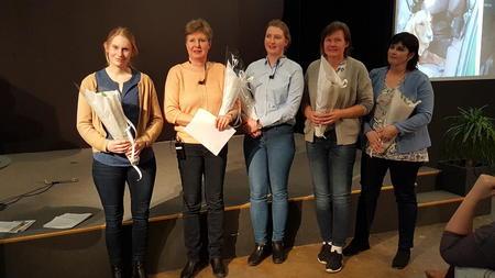 Ragnhild Duserud, Martha Mjølnerød, Marthine Unnerud, Ann Kristin Syverstad og Bjørg Stumberg