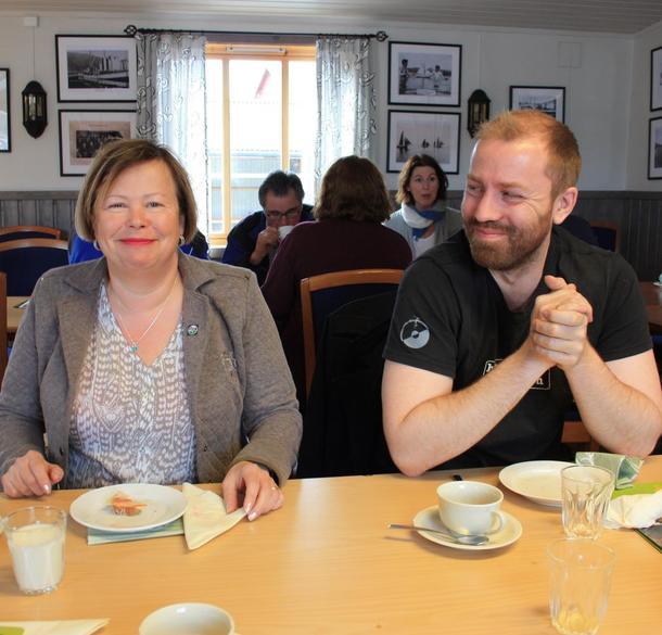 Siv Mossleth (Sp) og Håkon A. Møller (MDG)