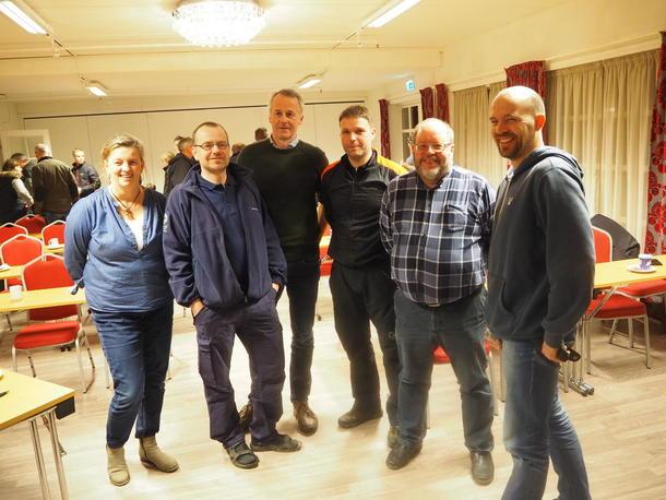 Mannskapet som holdt innlegg på dialogmøter rovdyrerstatninger og rovviltforvaltning Sør-Trøndelag