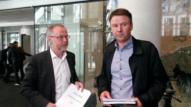 De to forhandlingslederne, Leif Forsell og Lars Petter Bartnes.