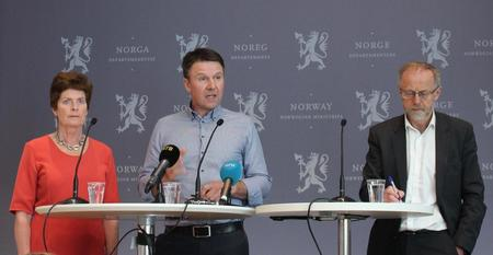 Pressekonferanse ved overlevering av tilbudet