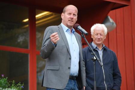 Fylkesråd Thomas Breen og Hamar-ordfører Einar Busterud