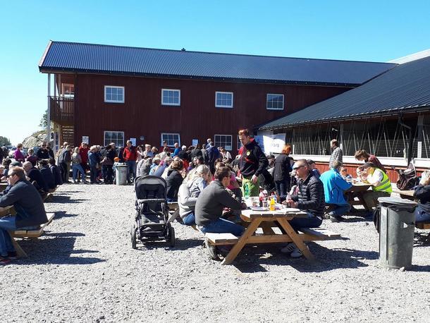 500 frammøtte på Åpen Gård i Nærøy skapte ekstra god stemning sammen med knallsol, konkurranser og matservering.