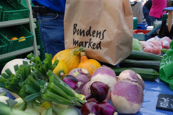 Grønnsaker på Bondens marked