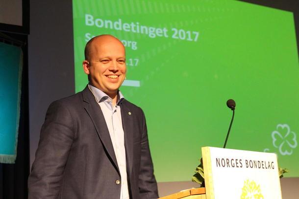 Trygve Slagsvold Vedum på Norges Bondelags årsmøte