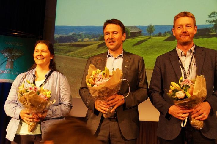 Ny leiartrio i Norges Bondelag: Frøydis Haugen, Lars Petter Bartnes, Bjørn Gimming