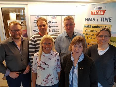 Fra venstre; Ulf Balla, Frank Ingilæ, Eirin Utsi, Runar Sjåstad, Grete Liv Olaussen og Lise Skreddernes