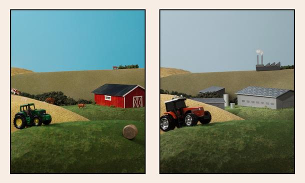 små eller store gårder