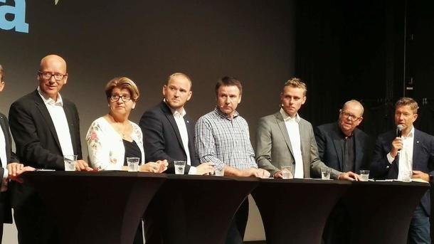 Debattpanel under debatt om matmakt og landbruk, Arendaluka 2017