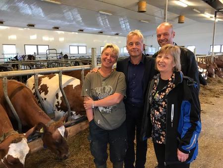 Fra venstre; May Conny Johansen, Knut Storberget, Steinar Karlstrøm og Grete Liv Olaussen