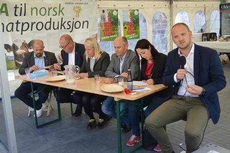 Politisk matprat Matfestivalen i Ålesund 25. august 2017