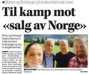"""Klikk på avisbildet over for å lese omtale i Romsdals Budstikke - Til kamp mot """"salg av Norge"""""""
