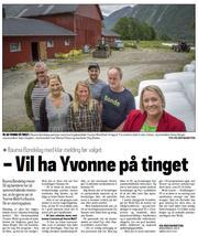 Klikk på avisbildet for å lese omtale i Åndalsnes Avis