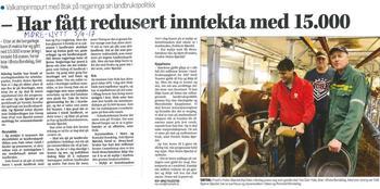 Klikk på avisbildet for å lese omtale i Møre-Nytt