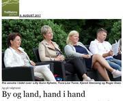 Klikk på avisbildet for å lese omtale i Trollheimsporten - By og land, hand i hand
