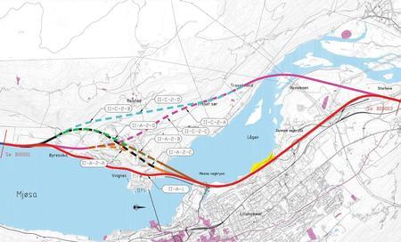 Trasealternativer gjennom Lillehammer